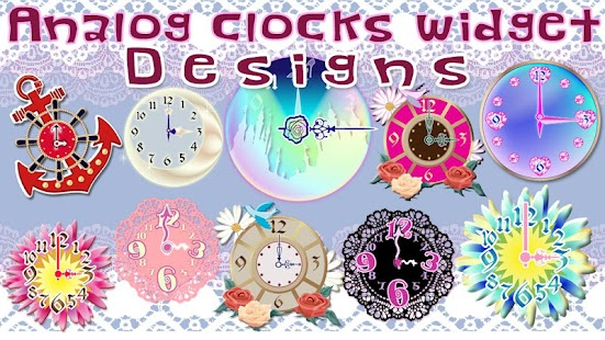 Analog clocks widget designs - screenshot thumbnail