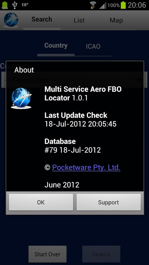 Multi Service Aero FBO Locator - screenshot