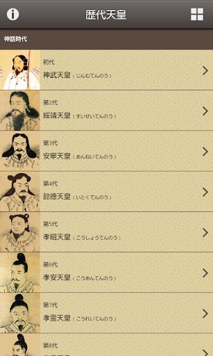 日本の歴代天皇