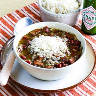 Slow Cooker Red Beans and Rice Soup.