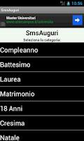 Screenshot of SmsAuguri, Auguri di ogni tipo