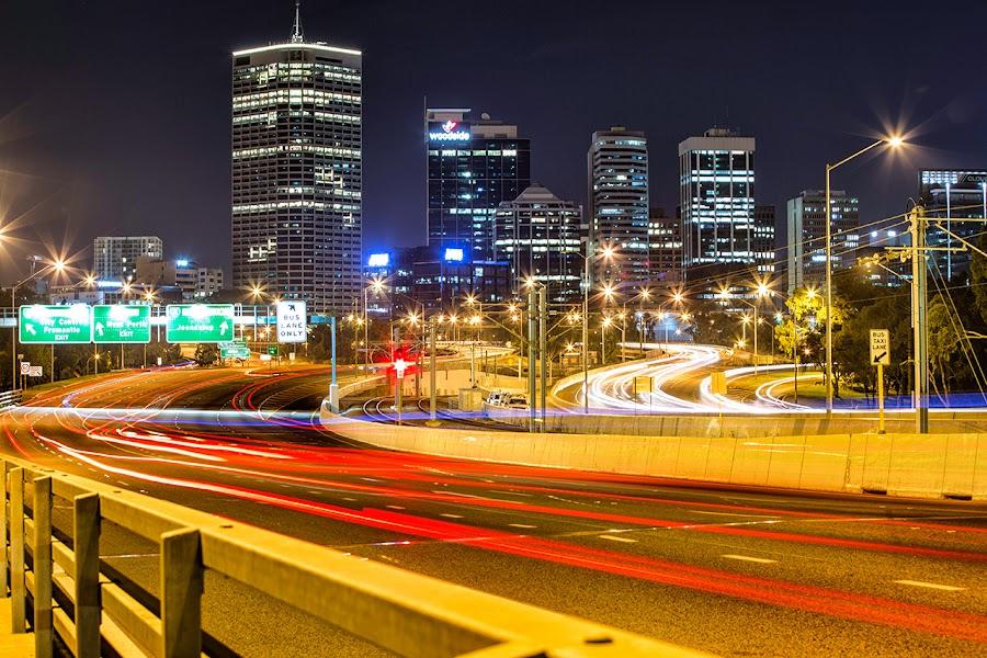 Perth City by Michael PhotoTraeger - City,  Street & Park  Skylines ( amazing, wow, perth, welovethiscity, phototraeger )
