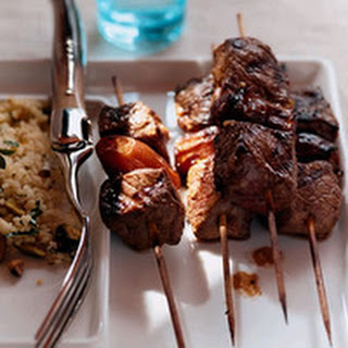 Moroccan Lamb Kebabs with Pistachio Couscous