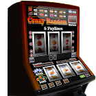 slot machine crazy random icon