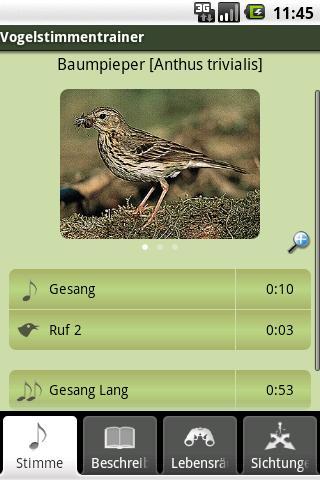 Vogelstimmen-Trainer Lite- screenshot
