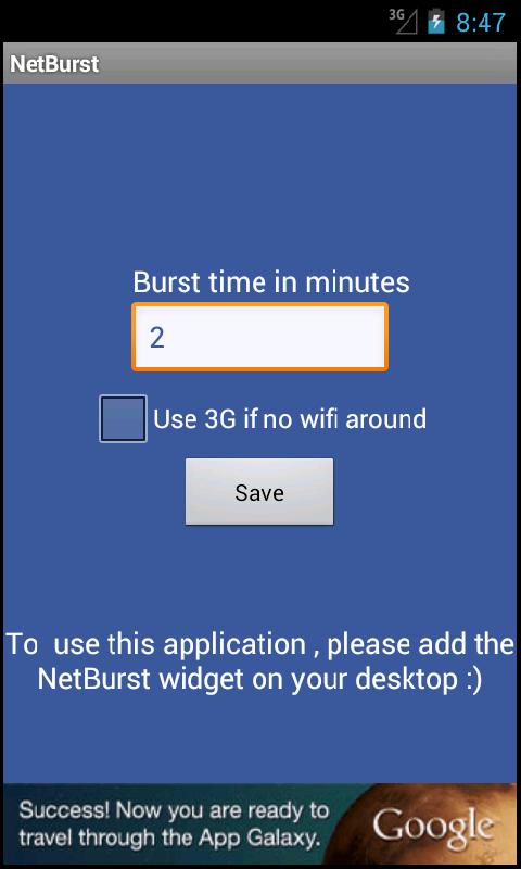 NetBurst - screenshot