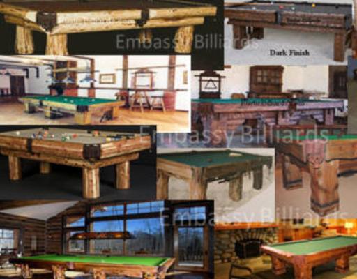 Log Pool Table Rustic Billiard