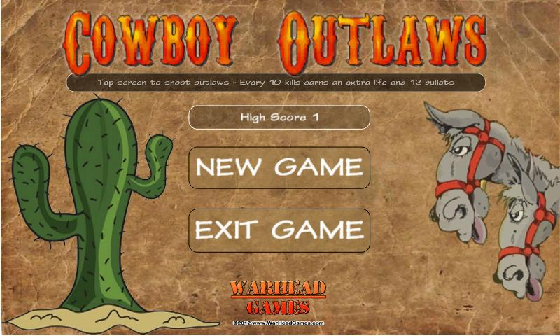 Cowboy Outlaws - screenshot
