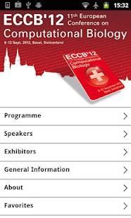 ECCB'12 - the European Confere- screenshot thumbnail
