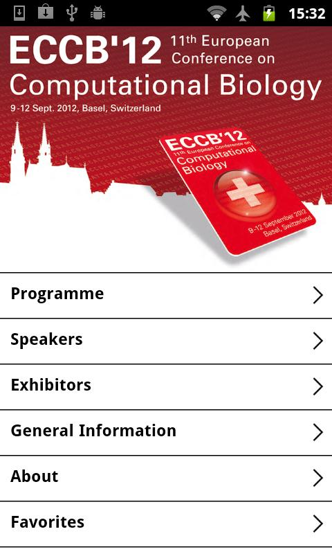 ECCB'12 - the European Confere- screenshot