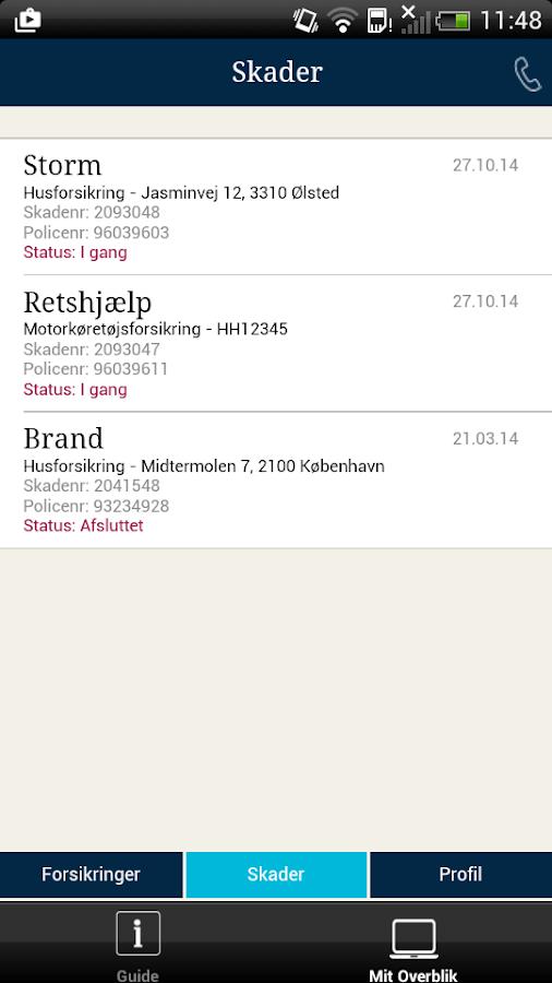 Alm. Brand Forsikring- screenshot