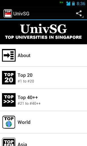 UnivSG: Tops in Singapore