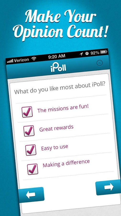 iPoll – Make money on surveys - screenshot