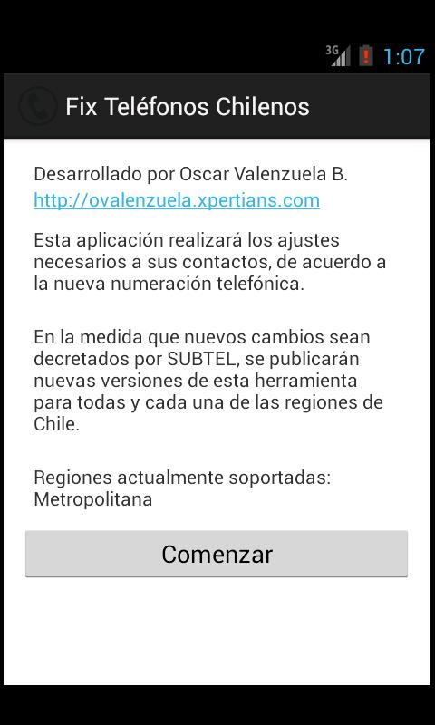 Fix Numeros Telefonos Chile - screenshot