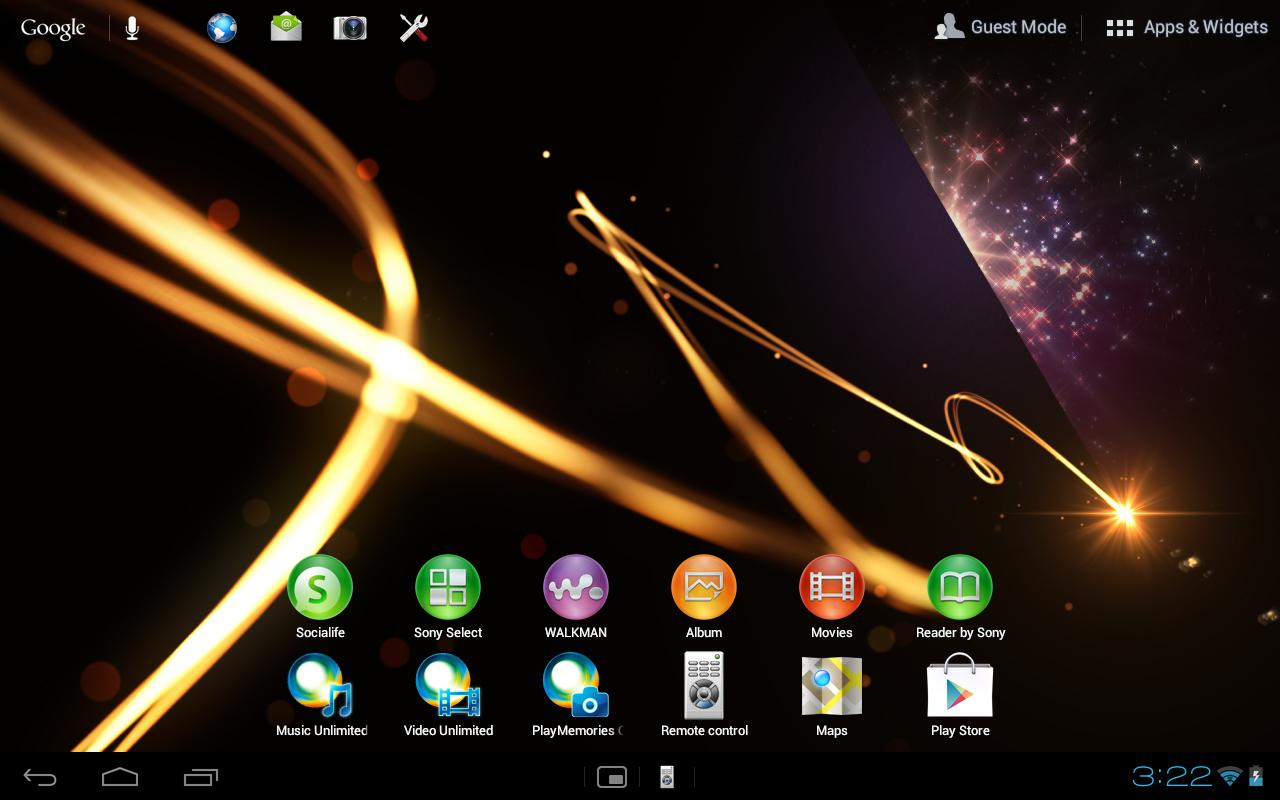 Home for Sony Tablet™ - screenshot