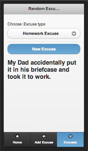 Need an excuse