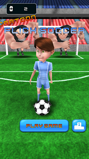 Cartoon Flick Soccer-free kick
