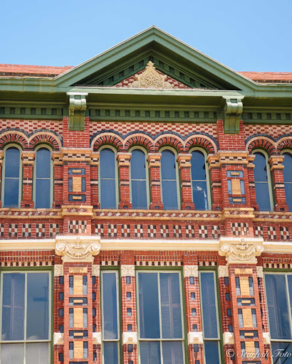 Architectural detail from downtown Galveston, Texas.