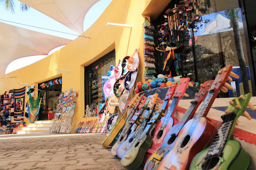 A shopping center on Cozumel offers a variety of mementos of the island.