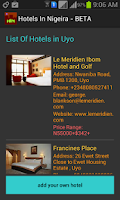 Screenshot of Hotels In Nigeria