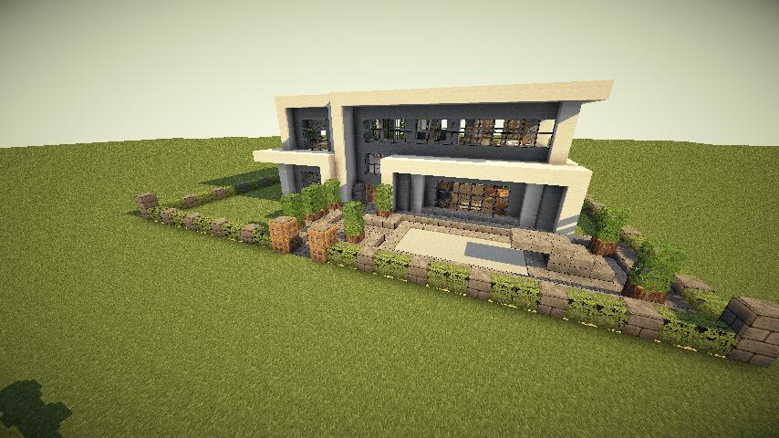 Mcpe Simple Modern House - Minecraft modern house 5x5