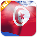 3D Tunisia Flag Live Wallpaper