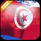 3D Tunisia Flag Live Wallpaper icon