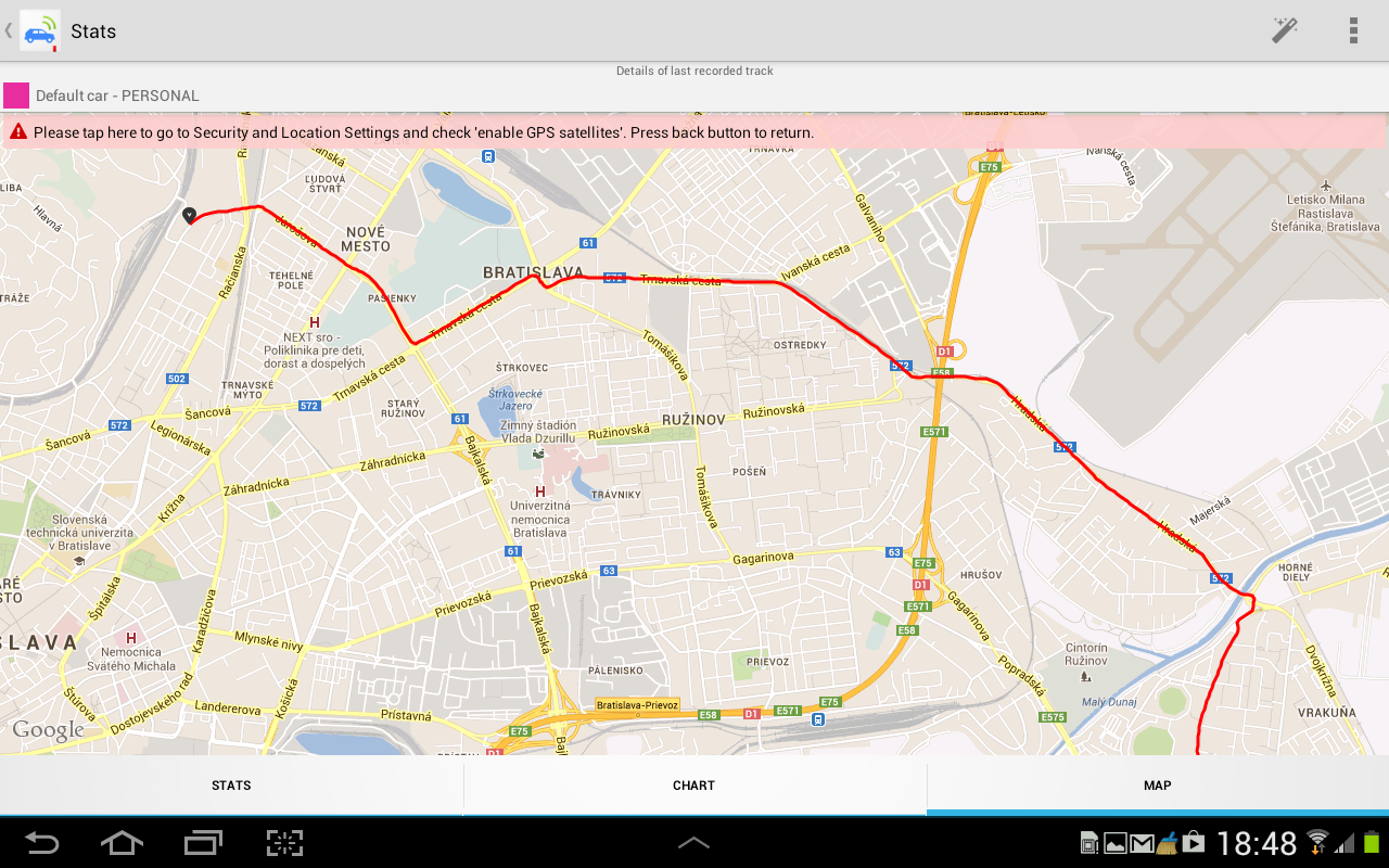 Mileage vehicle GPS Tracker - screenshot