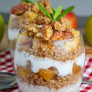 Apple Crumble Quinoa Parfait.