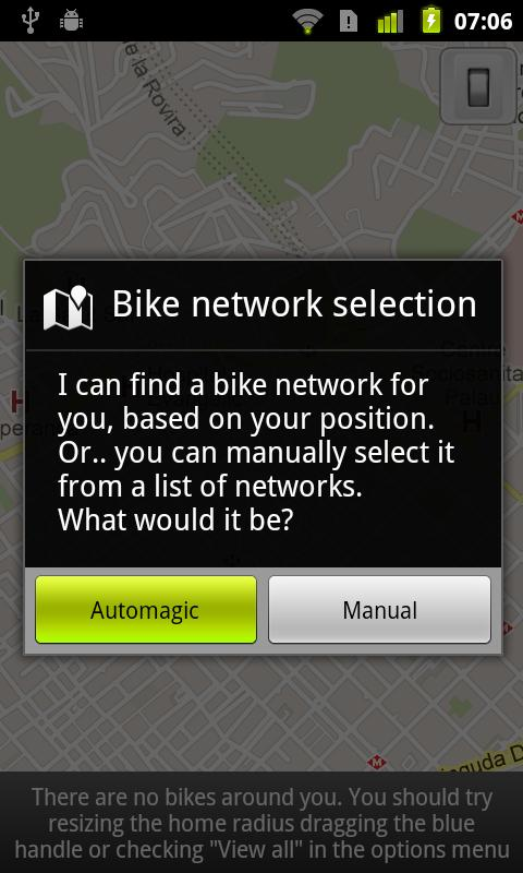CityBikes - screenshot