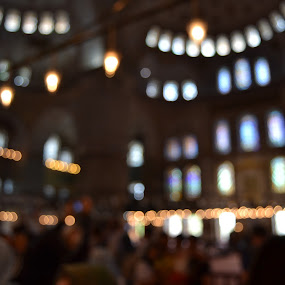 Blue Mosque by Cal Johnson - Novices Only Abstract ( religion, old, blue, mosque, istanbul )