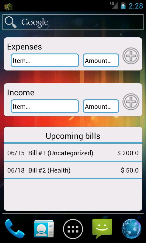 Droid Money - screenshot