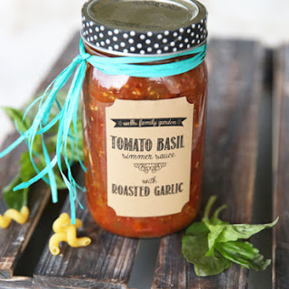 Tomato Basil Simmer Sauce with Roasted Garlic