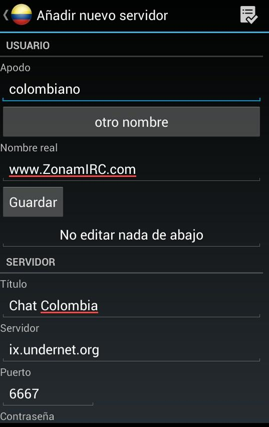 Chat Colombia- screenshot