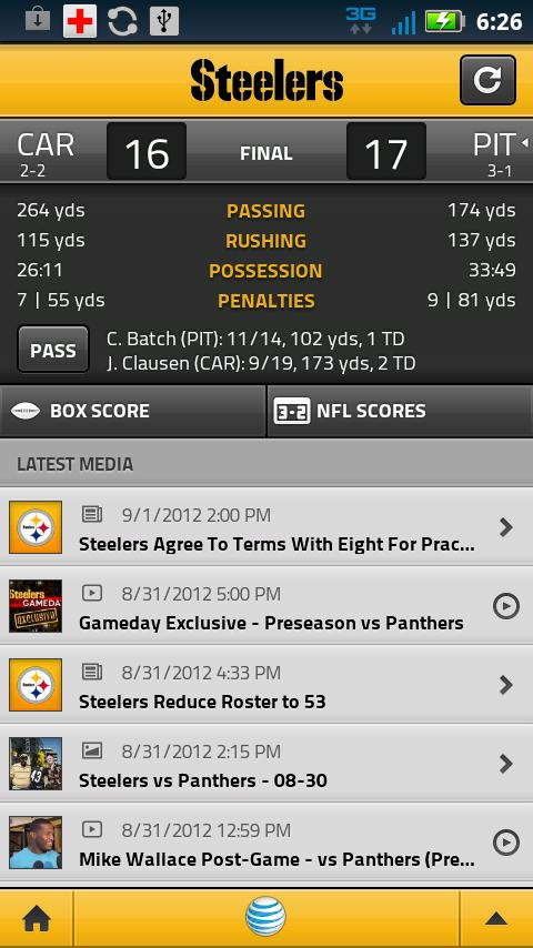 Steelers Gameday PLUS - screenshot
