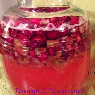 Cranberry Rhubarb Cordial.