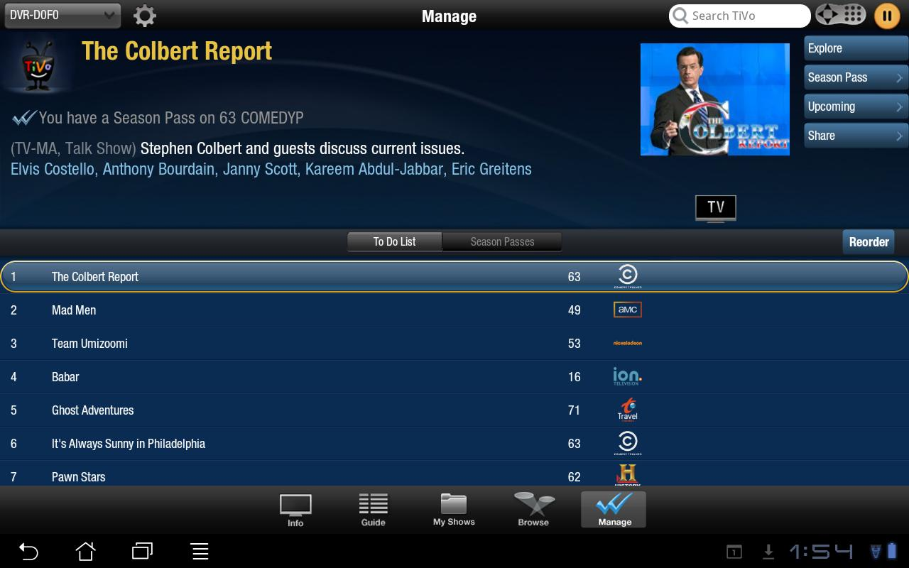 TiVo Tablet (Obsolete) - screenshot