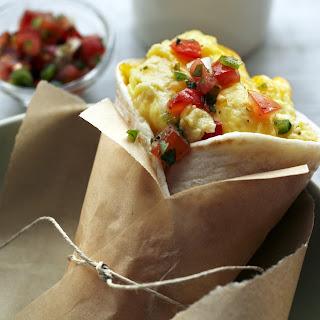 Microwave Egg & Cheese Breakfast Burrito.