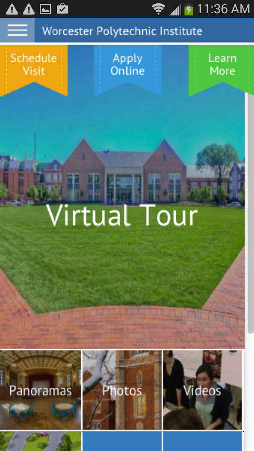 WPI Tour- screenshot