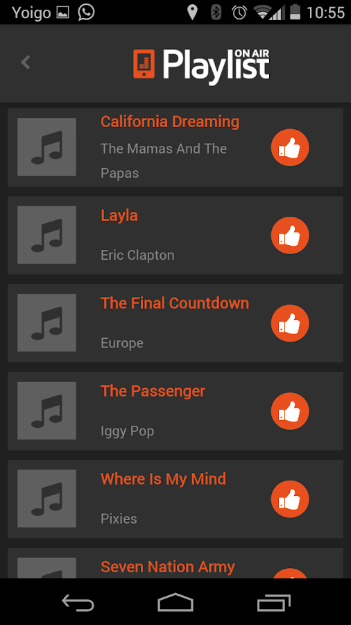 PlaylistOnAir- screenshot