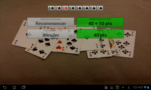 Score Belote Camera - screenshot thumbnail