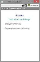 Screenshot of Drugs in Emergency & ICU