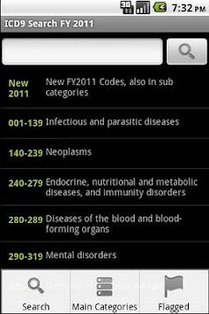 ICD-9 Medical Code Search FY11 APK screenshot thumbnail 1