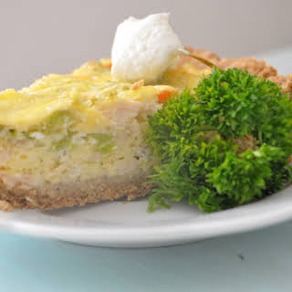 Protein Packed Chicken and Broccoli Quiche.