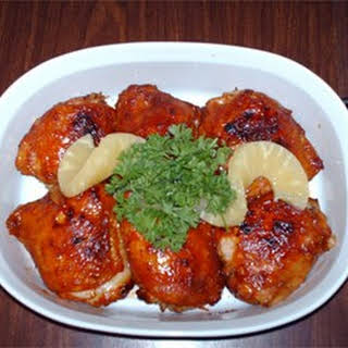 Caribbean Canadian Glazed Chicken.