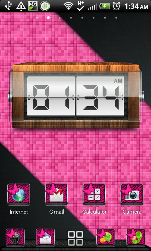 THEME - Pink Zebra Butterfly- screenshot