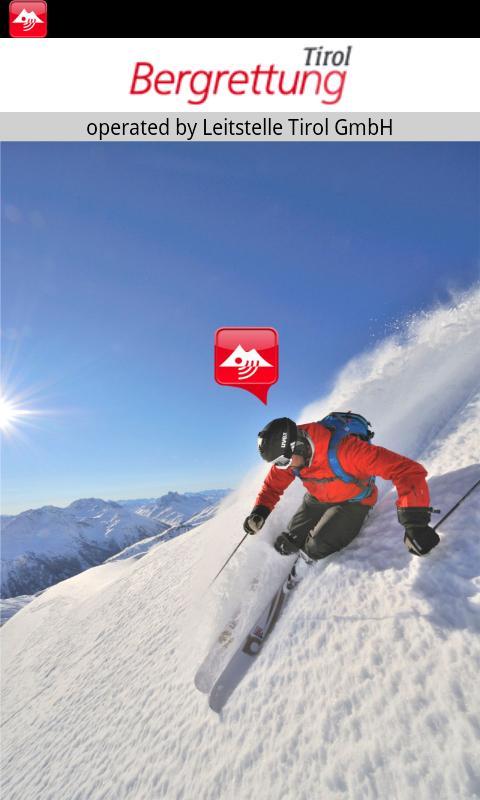 Notfall App Bergrettung Tirol – Screenshot