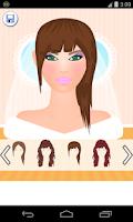 Screenshot of bride makeup games