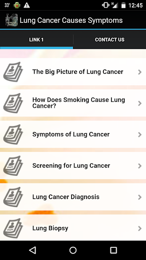 Lung Cancer Causes Symptoms