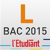 Bac L 2015 avec l'Etudiant